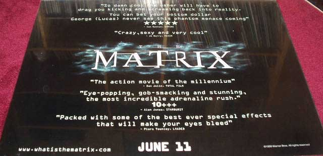 Movie Posters 1999: MATRIX, THE 1999