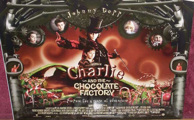 Charlie And The Chocolate Factory Uk Quad Poster