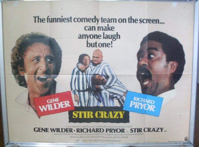 STIR CRAZY: UK Quad Film Poster
